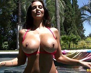 Ava addams finger bonks herself poolside