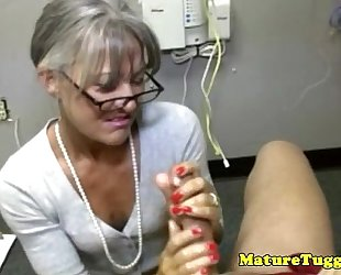 Granny older toying with penis