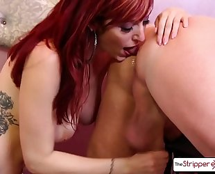 Lauren phillips disrobe down and give a valuable sloppy blow job