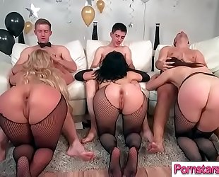 (chanel preston & kristina rose & phoenix marie) naughty pornstar group-fucked hard by monster dong
