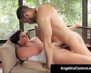 Cubas porn queen angelina castro acquires a large dark schlong & cum