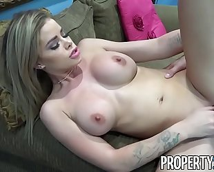 Propertysex - super sexy real estate agent bonks her step-cousin in open abode