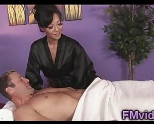 Asian babe asa akira engulfing wang after massage