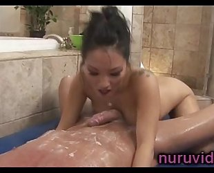 Hot asa akira gives fantastic cook jerking