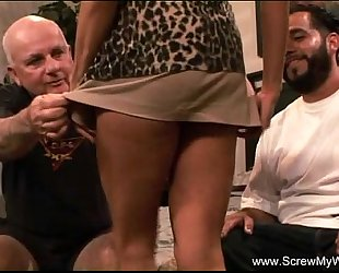 Sleazy spouse watches his Married slut fuck