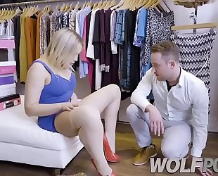 Horny saleswoman blair williams show me her cunt when i consult prices