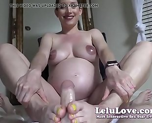 Lelu love-pov preggo footjob jizz flow on feet