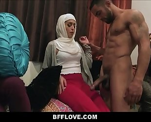 Three muslim nubiles monica sage sophia leone and audrey royal have american style bachelorette party screwed by dark stripper