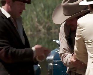 Horny bandits having group fuck at the voyeur picnic