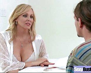 (julia ann) aged large round milk shakes slutty wife bonks on camera vid-14