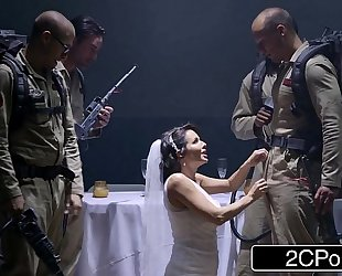 Sexy bride ghost veronica avluv looking for a little wedding night bukkake