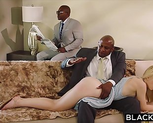 Blacked pliant girlfriend punished by 2 dark males