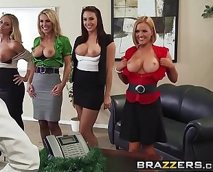 Brazzers.com - large bazookas at work - office 4-play christmas edition scene starring chanel preston krissy l