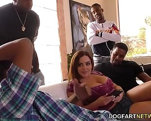 Anal wench natasha precious takes bbc dp