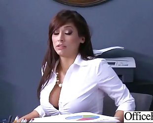 (reena sky) whore white women with large round boobs receive team fuck hard in office mov-27