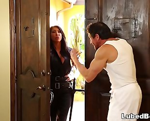Lonely policewoman lastly acquires what this babe needs! # august taylor and tommy gunn