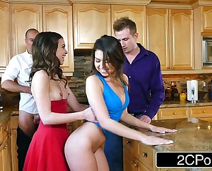 Whoring wives melissa moore & riley reid exchange husbands at dinner party