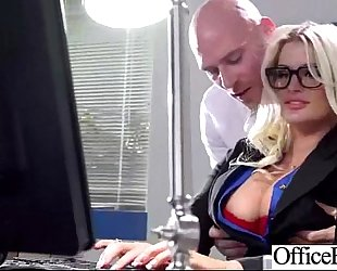 Sexy concupiscent dirty slut wife (julie cash) with large milk shakes riding schlong in office movie-19