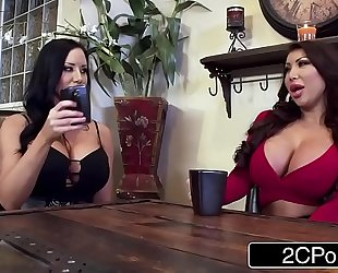 Twin silicone cuties sharing favourable penis