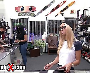 Pawnshopx - uma jolie craves her ring back from pawn shop. see what this babe is ready to do for it!
