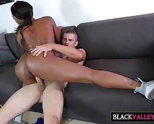 Sexy brunch with hawt dark white bitch chanell heart