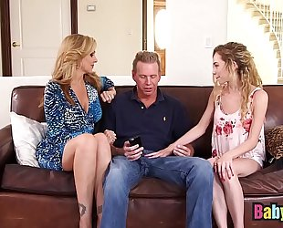 Little nanny angel smalls shares large 10-Pounder with julia ann