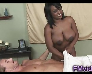 Jada fire engulfing knob after massage