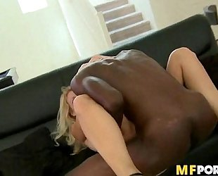 Hard bbc drilling white milf vagina charlee pursue two