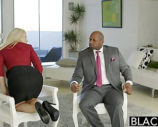 Blacked business blond anikka albrite a-hole screwed by a bbc