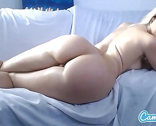 Anikka albrite large tit bigs wazoo blond finger fucking her booty and twat.