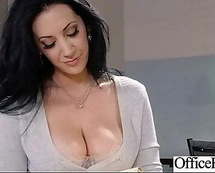 (jayden jaymes) large scoops office bitch BBC slut receive hard style nailed video-20