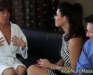 Fetish masseuse blow shlong