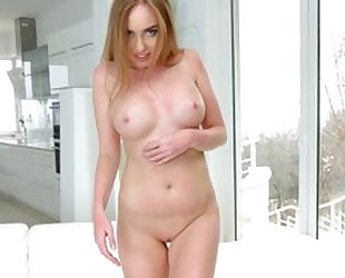 Kinky Russian girl gets her eager holes destroyed in threesome