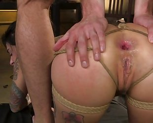 BDSM loving bitch with tattoos gets roughly fucked
