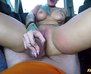 Nasty blonde woman gets sodomized by her driving instructor
