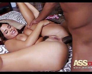 Keisha grey tries anal with plump knob