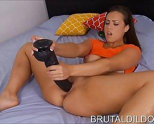 Brunette with marvelous face kelsi monroe large sextoy sex