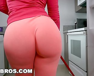 Bangbros - rose monroe is a concupiscent lalin amateur wife maid with big arse and big brassiere buddies