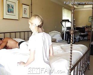 Spyfam step daughter piper perri fuck and creampie for stealing mammas fake penis