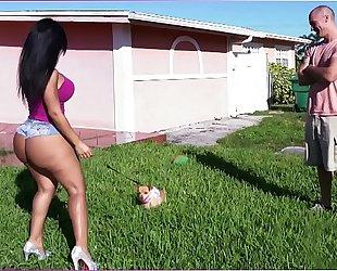 Bangbros - latin babe rose monroe's large a-hole bouncing on sean lawless's jock