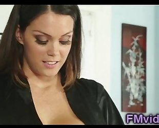 Busty alison tyler plays with schlong after massage