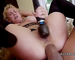 Milf receives anal fist and wet crack fuck
