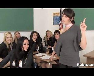 Horny schoolgirl pornstar mass fuckfest