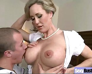 Mature slutty wife (brandi love) with large melon mounds on sex tape movie-08