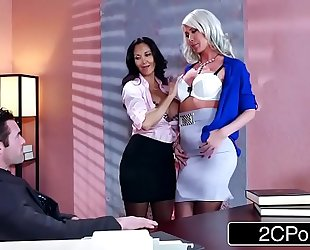 Sexy 3some in the office - ava addams, riley jenner